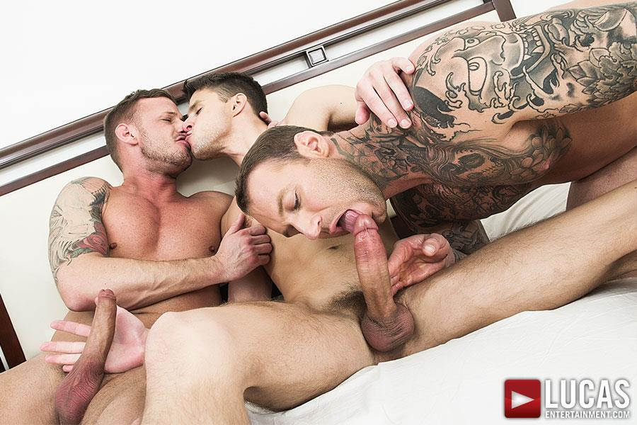 Lucas-Entertainment-Dylan-James-and-Logan-Rogue-and-Dmitry-Osten-Bareback-Threeway-Amateur-Gay-Porn-04 Dmitry Osten Takes A Raw Load In The Mouth And Ass