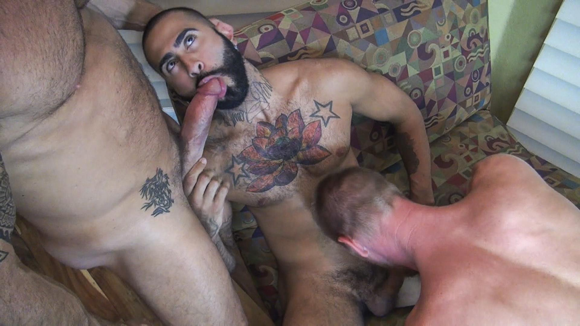Raw-Fuck-Club-Vic-Rocco-and-Rikk-York-and-Billy-Warren-and-Job-Galt-Bareback-Daddy-Amateur-Gay-Porn-05 Four Hairy Muscle Daddies In A Bareback Fuck Fest Orgy