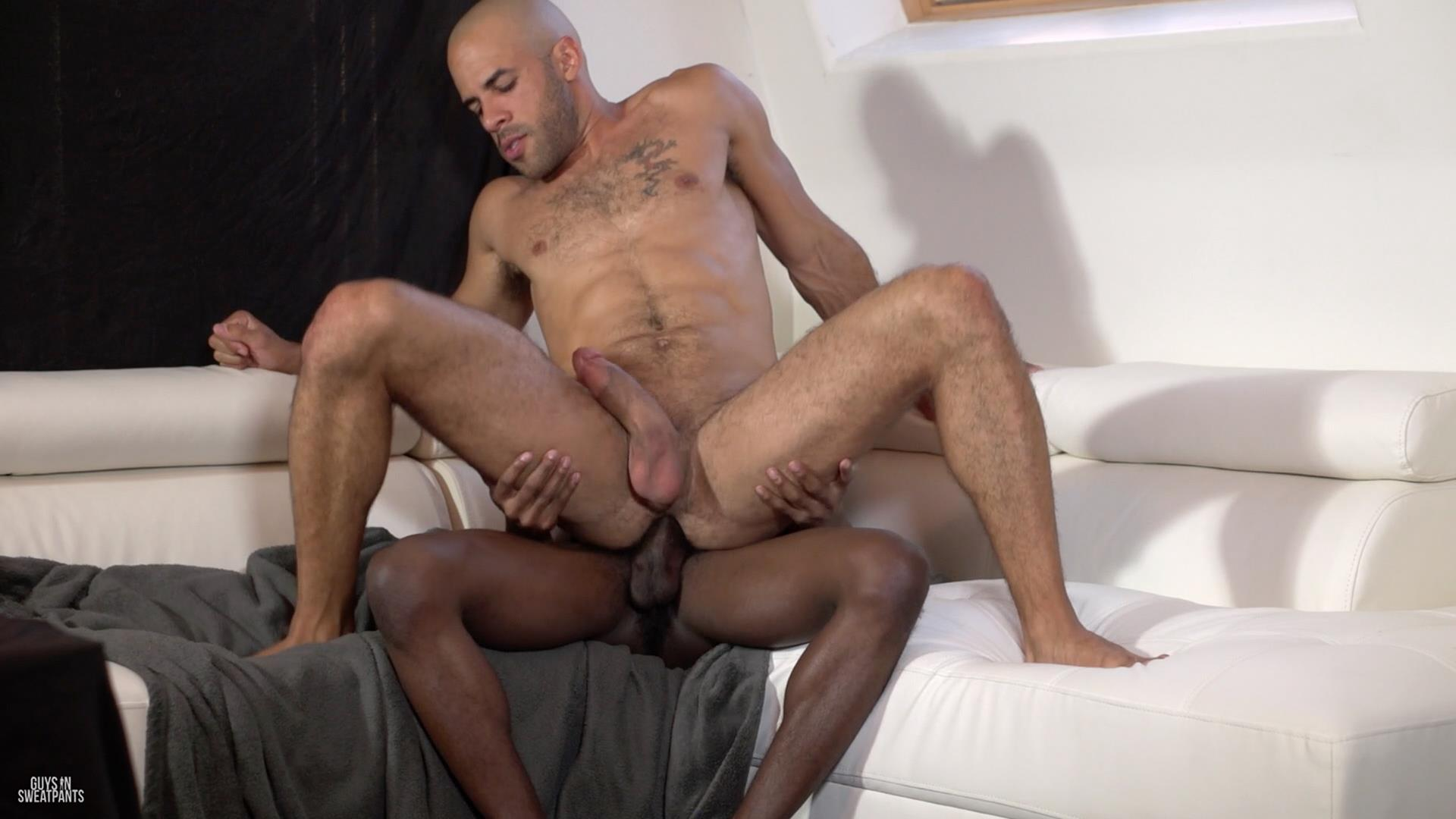 Guys-in-Sweatpants-Austin-Wilde-and-Liam-Cyber-Bareback-Interracial-Sex-Amateur-Gay-Porn-07 Austin Wilde Takes A Big Black Bareback Cock Up The Ass