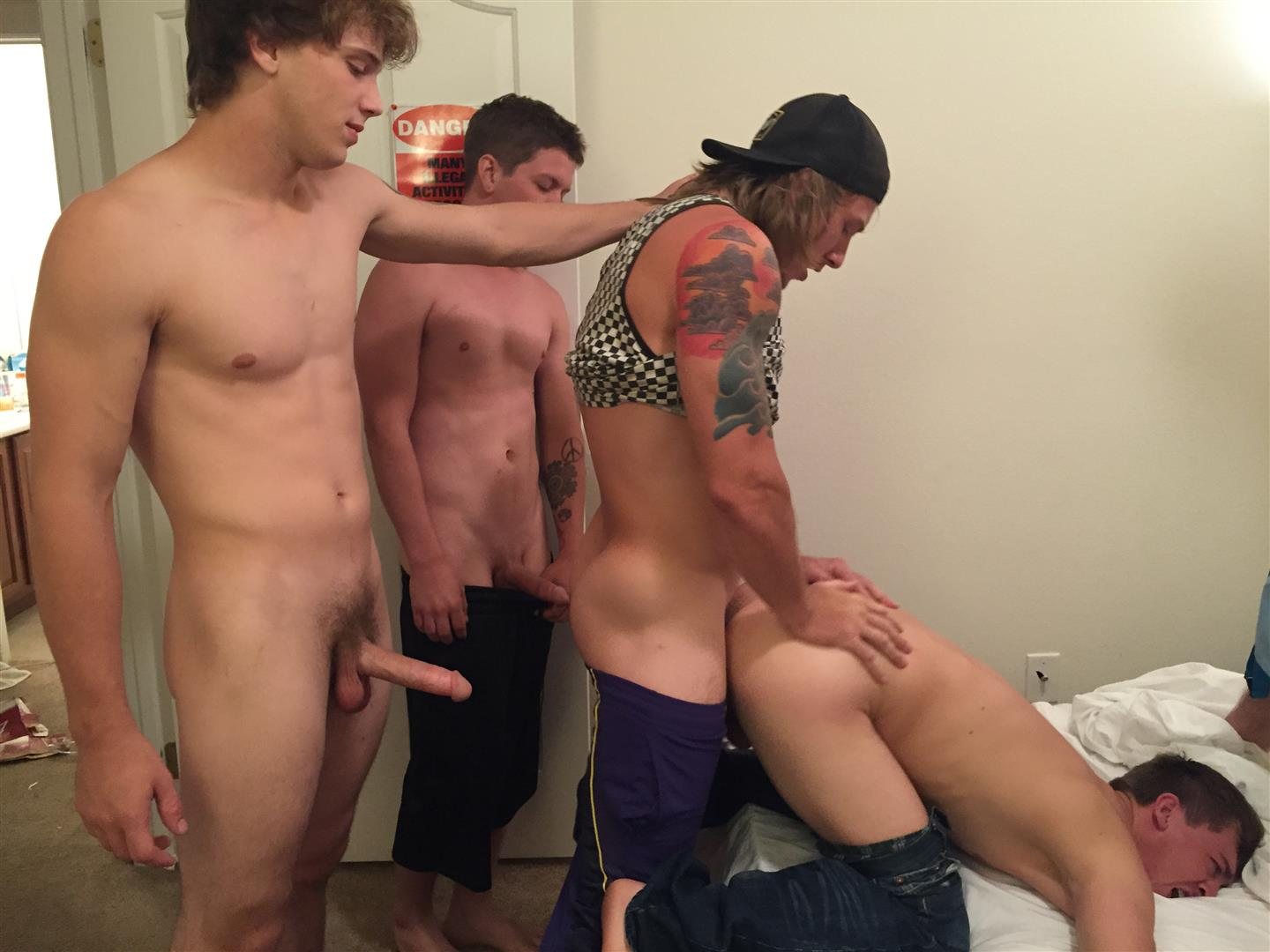 2 gay guys fucking when a girl joins in 6