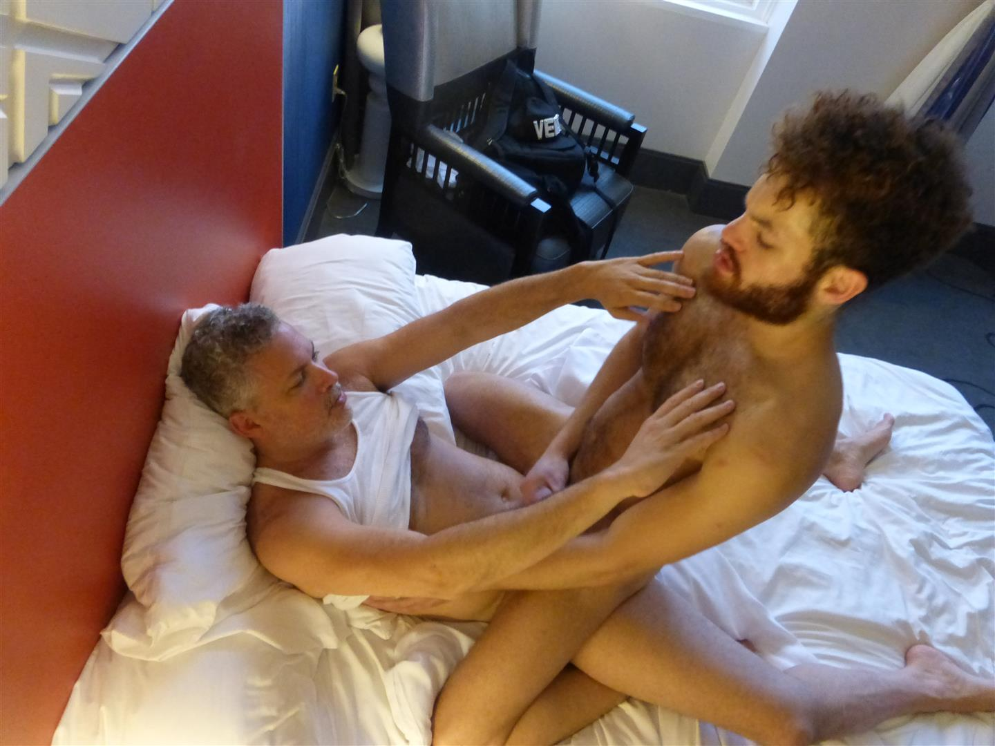 Maverick-Men-Adam-Hairy-Muscle-Cub-Barebacked-By-Two-Muscle-Daddies-Amateur-Gay-Porn-42 Young Hairy Muscle Cub With A Big Uncut Cock Takes Two Daddy Cocks