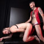 Hairy-and-Raw-Rex-Hunter-and-Dusty-Williams-Hairy-Leather-Daddy-Big-Uncut-Cock-Bareback-Video-15-150x150 Dusty Williams Begs For Daddy Rex Hunter's Big Uncut Cock To Breed His Ass